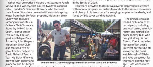 Three Marm and Lake Arrowhead Brewfest Featured in High Mountain Tidbits